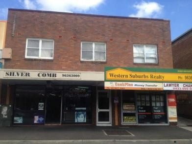 Conveniently Located above shops!